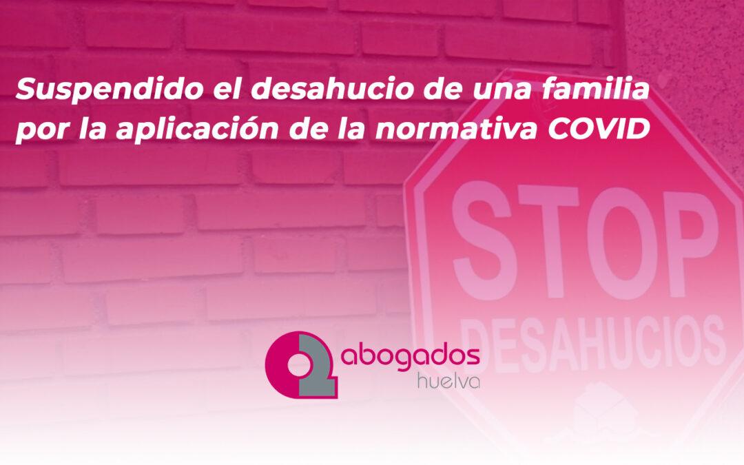 Suspendido el desahucio de una familia por la aplicación de la normativa COVID